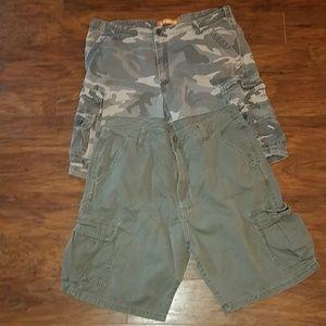 Bundle of 2 cargo shorts both size 36